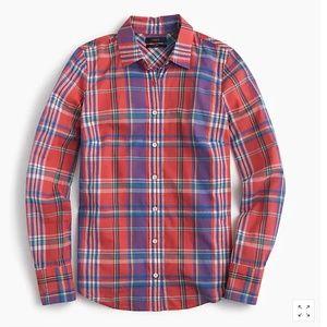 J. Crew Petite perfect shirt in colorful plaid